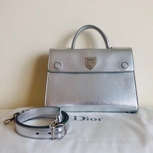💯 Authentic Christian Dior Silver Satchel